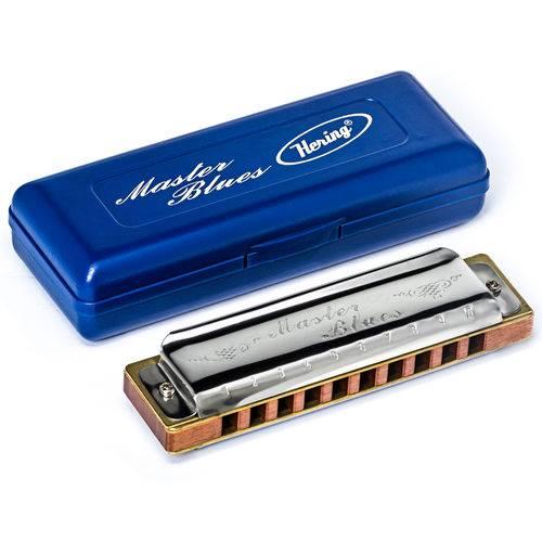 Gaita Hering Diatônica Master Blues G Sol 9020G 20 Vozes + Case