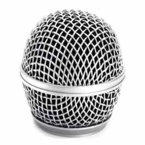 Globo Metalico para Microfone 54MM Prata