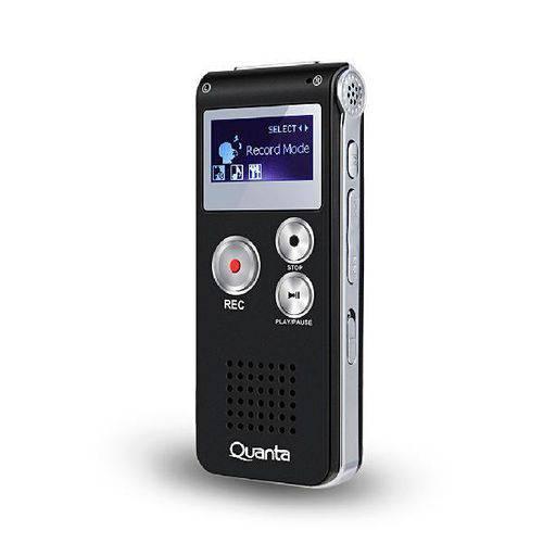 Gravador de Voz Quanta QTG220I para Até 18 Horas de Gravação