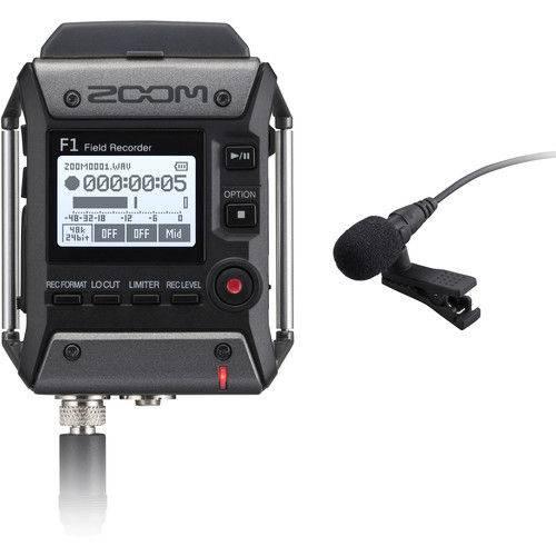 Gravador de Voz Zoom F1 Field Recorder com Microfone Lavalier