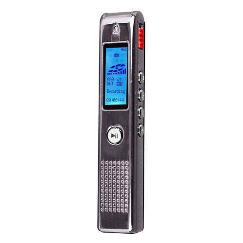 Gravador Digital de Voz Coby C/ Até 550h, SD 8GB, USB, MP3 e Alto Falante