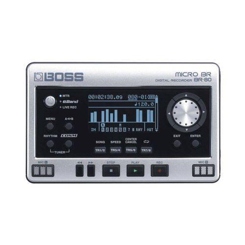 Gravador Digital Portátil Boss Br-80 com Cosm Eband e 32gb