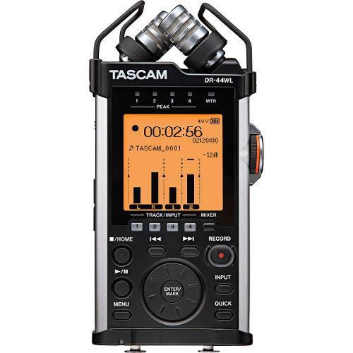 Gravador Digital Portátil Tascam Dr-44 com Memória de 2 Gb Micro Sd Incluída