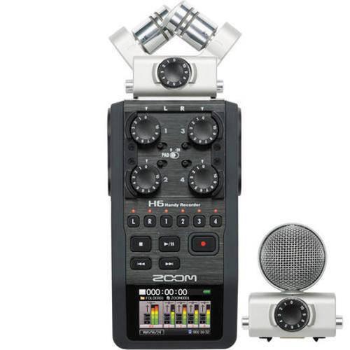 Gravador Digital Zoom H6 com Sistema de Microfone Intercambiáveis