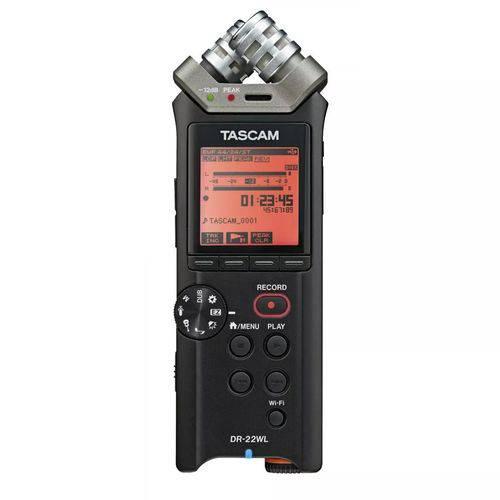 Gravador Tascam Dr-22wl Wi-fi Portátil Linear Pcm Recorder