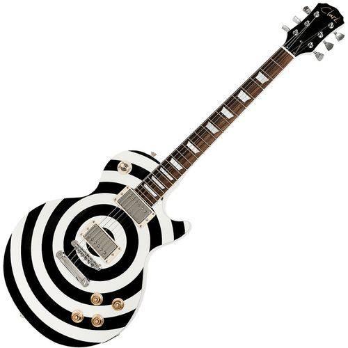 Guitarra Clark Zakk Wylde CZW-300 Preto e Branco