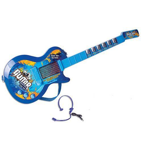 Guitarra com Microfone Guitar Rock Tour 9010b Azul - Fênix