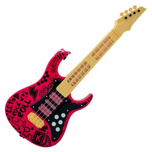 Guitarra Elétrica Infantil Show Rosa Toyng