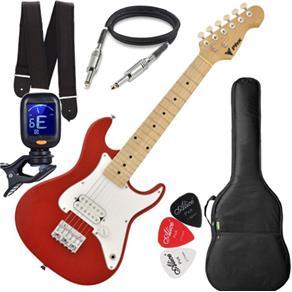 Guitarra Eletrica Phx Infantil Criança Jr Ist Vermelho Capa