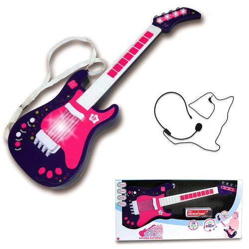 Guitarra Eletrônica Infantil - Rosa - Unik Toys