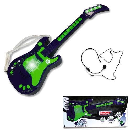 Guitarra Eletrônica Infantil - Verde - Unik Toys