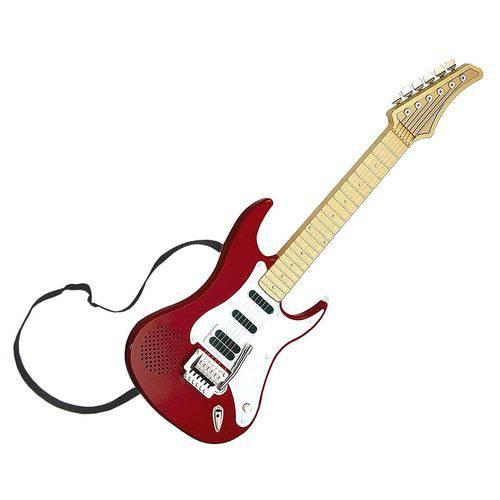 Guitarra Eletrônica Infantil Vermelha - Dtc