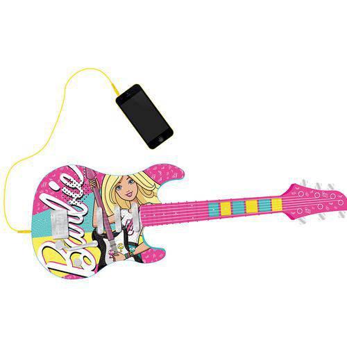 Guitarra Fabulosa Barbie com Função Mp3 Player - Fun