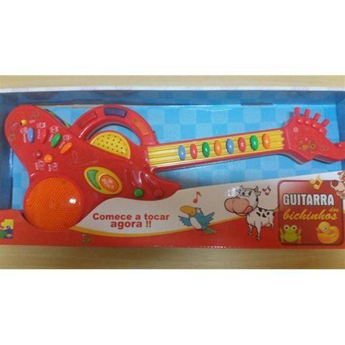 Guitarra Infantil - Bichinhos - Vermelho - Cks