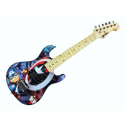 Guitarra Infantil Stratocaster Phx Capitão America Gmc-k2