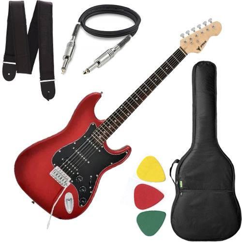 Guitarra Phx Strato Power St H Sth Vermelho Vinho Capa Cabo