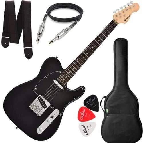 Guitarra Phx Telecaster Tl 1 Tl1 Preto Capa Cabo Alça