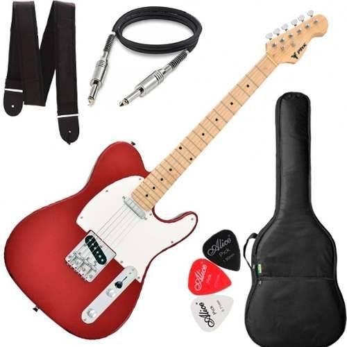 Guitarra Phx Telecaster Tl 1 Tl1 Vermelho Vinho Capa Cabo