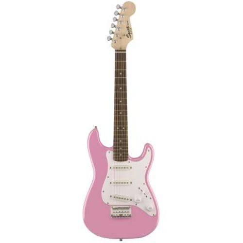 Guitarra Squier Mini Strato 570 - Rosa