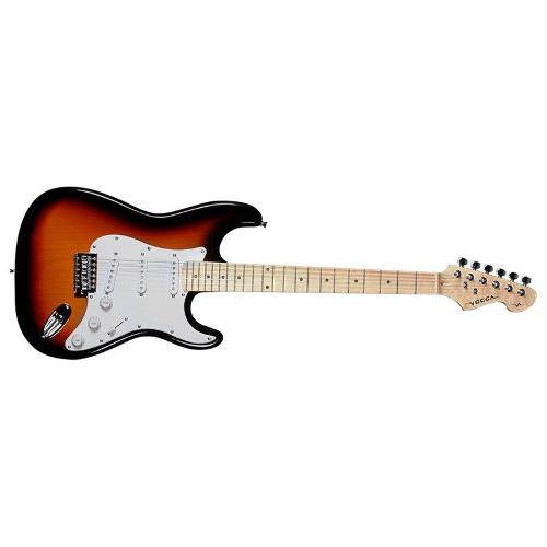 Guitarra St Standard Vogga VCG601N Ys 3 Captadores Single Coil, Tarraxas Cromadas - Sunburst