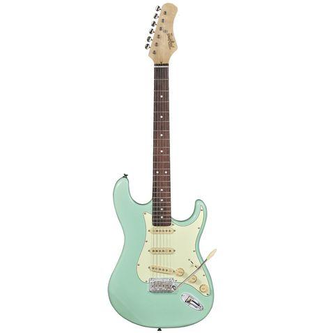 Guitarra Tagima T 635 Classic Escala Escura Escudo Mint Green Verde Pastel
