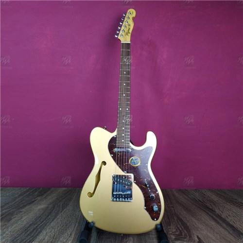 Guitarra Tele Semi Acústica T484 Go Gold Escudo Tortoise - Tagima