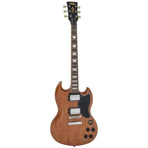 Guitarra Vintage VS6M | Estilo SG | Natural Mahogany