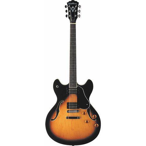Guitarra Washburn Semi Acústica Hb30 Tsk Sunburst