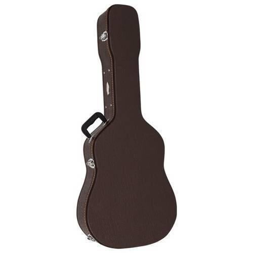Hard Case Luxo Vogga Vcalfk para Violão Folk - com Tranca Central e Acabamento Luxo Marrom