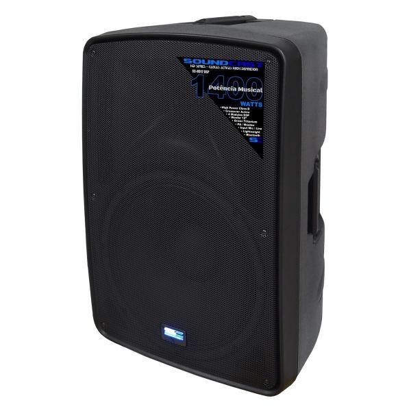 """Hd12 Dsp Soundcast - Caixa Ativa 12"""" 1400w com Dsp Usb/sd/bt"""