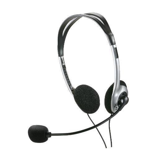 Headset Basic Preto e Prata - Multilaser