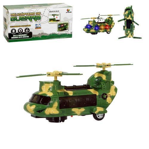 Helicóptero de Guerra 3d com Luz e Som