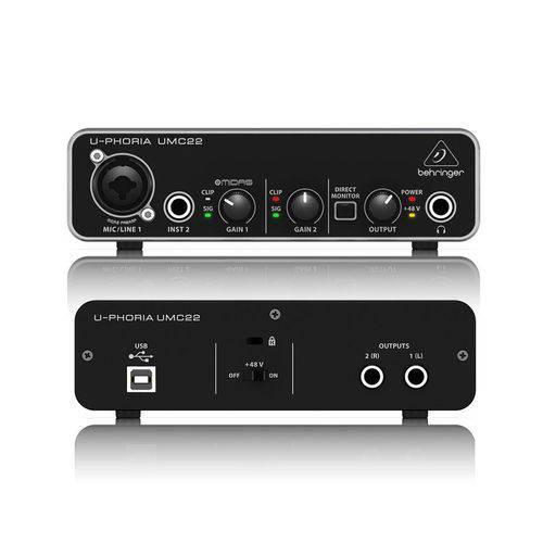 Interface de Áudio Behringer UMC22 USB