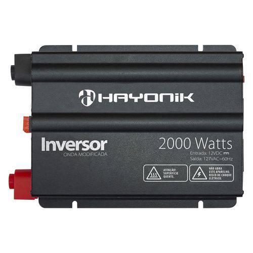 Inversor Onda Modificada 2000W 12VDC 127V Preto Hayonik