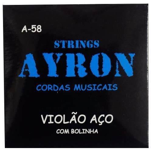 Jogo de Cordas/ Encordoamento Violão Aço Cordas Ayron