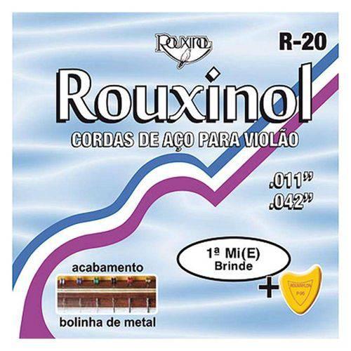 Jogo de Cordas P/ Violão Aço .011 Rouxinol R-20