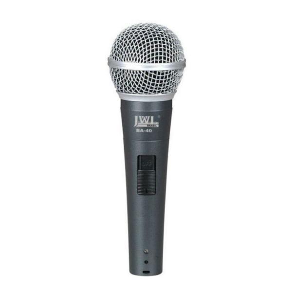 JWL - Microfone Dinâmico Profissional com Fio BA40