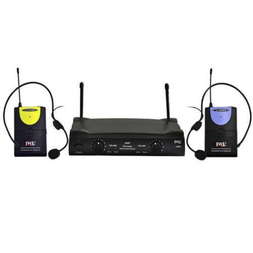 Jwl - Microfone Headset Duplo Uhf U585 Hh