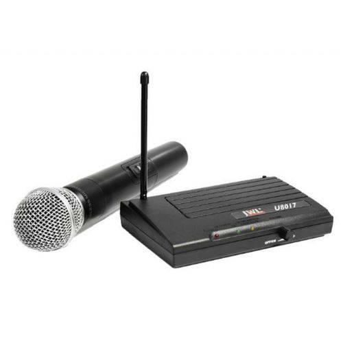 Jwl - Microfone Sem Fio de Mão Uhf U8017