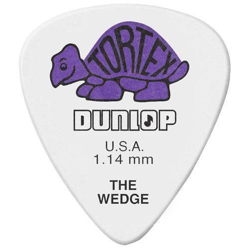 Kit 12 Palhetas Dunlop Tortex Wedge 1.14mm Roxa para Guitarra Baixo Violão