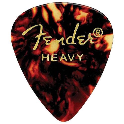 Kit 12 Palhetas Fender Tradicional Shell Heavy 351 para Guitarra Baixo Violão