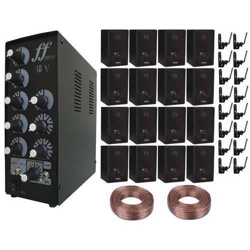 Kit 16 Caixa + 16 Suporte + 1 Setorizador 5 Canal + 200m Fio