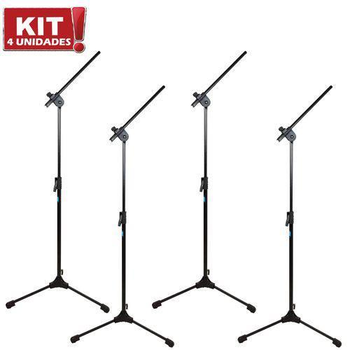 Kit 4 Pedestais Suportes para Microfone Girafa MGS TPS Ask