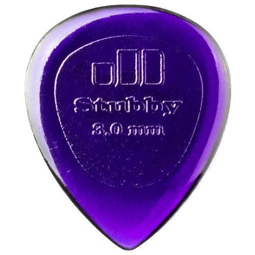Kit 6 Palhetas Dunlop Stubby 3mm Guitarra Violão Baixo