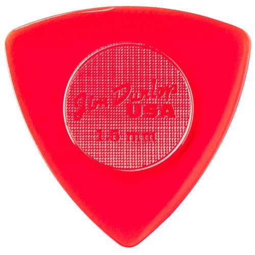 Kit 6 Palhetas Dunlop Tri Stubby 2mm para Guitarra Baixo Violão