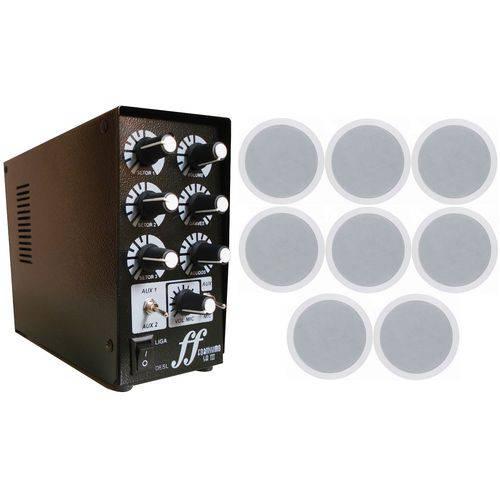 Kit 8 Arandela Teto Embutir 120w + Setorizador Amplificador