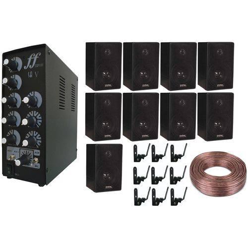 Kit 9 Caixas C/ Suportes Amplificador Setorizador 100m Fio