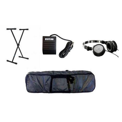Kit Acessórios de Teclado 5/8 ou 6/8 Capa Suporte Pedal Fone