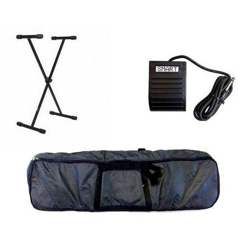 Kit Acessórios de Teclado 5/8 ou 6/8 Capa Suporte Pedal