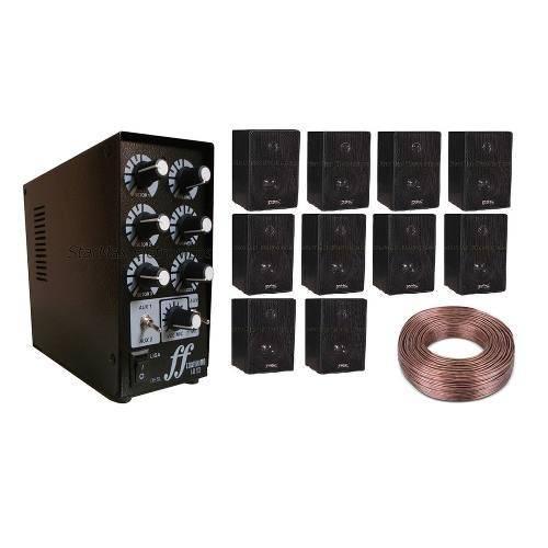 Kit Amplificador Setorizador 3 Canais 10 Caixas Dsk 100m Fio